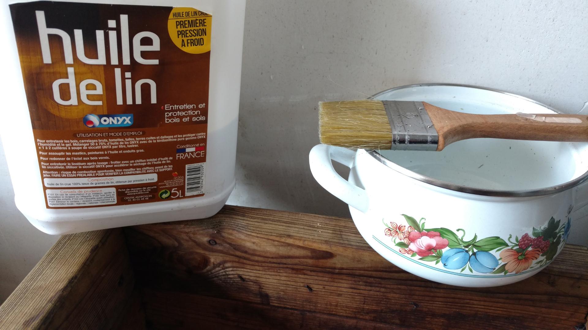 perfect blog le potager minimaliste entretien terrasse bois huile de lin with behandla huile. Black Bedroom Furniture Sets. Home Design Ideas